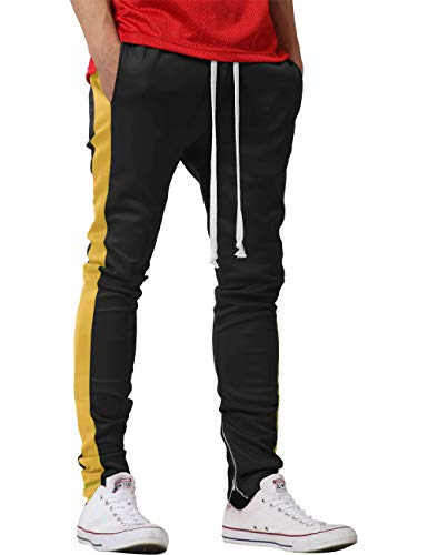 Mens Track Pants Two Tone (Large, ()