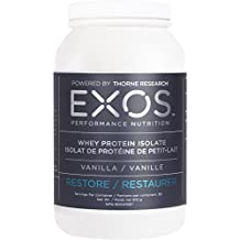 EXOS Performance Nutrition - Whey Protein Isolate - Premium Protein to Help Build Muscle and Spark Recovery - Vanilla Flavor - NSF Certified for Sport® - 30 Servings