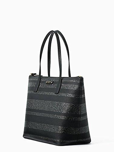 Kate Spade New York Haven Lane Hani Black Glitter Shoulder Handbag