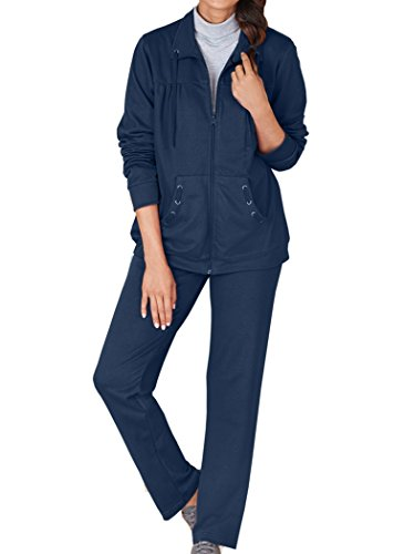 Terry Zip Pocket Pant (AmeriMark French Terry Zip Set)