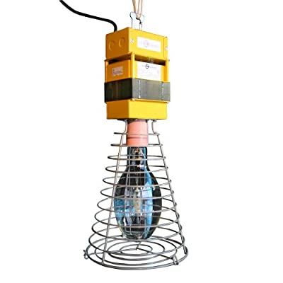 Lind Equipment LE-HB400PLS Temporary High-Bay Light, Pulse Start, 400-Watt Metal Halide, Pre-Wired with Cord and Plug, Quad Tap Ballast.