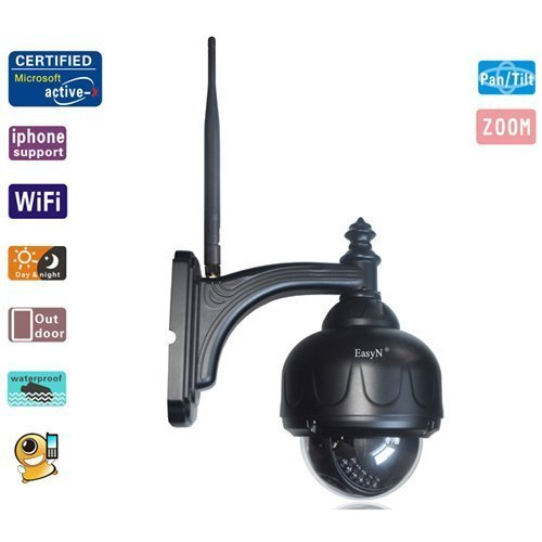 EasyN 1.3 MP IP Camera Outdoor with Day Night Motion Detection Remote Access Waterproof by LightInTheBox