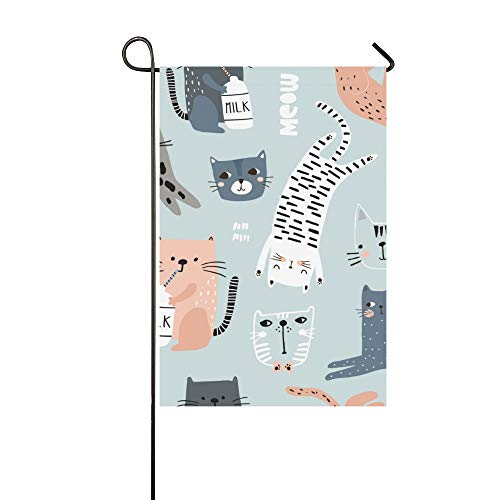 Home Decorative Outdoor Double Sided Tiger Cartoon Animal Beast Leopard Print Speed Design Forest Garden Flag,house Yard Flag,garden Yard Decorations,seasonal Welcome Outdoor Flag12X18In Gift