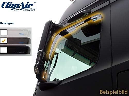 ClimAir LKW Windabweiser für Fahrer- und Beifahrertür -CLI0046013 (Farbe: rauchgrau)