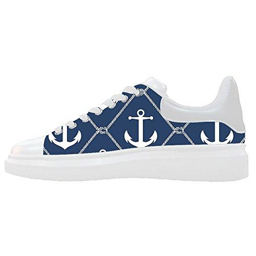 Dalliy Blauw Van De Oceaan Anker Vrouwen Canvas Schoenen Schoenen Schoenen Sneakers Schoenen Schoenen E