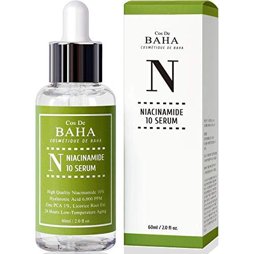 Niacinamide 10% + Zinc 1% Serum for Face – Pore Reducer + Uneven Skin Tone Treatment + Diminishes Acne Prone, Korean…