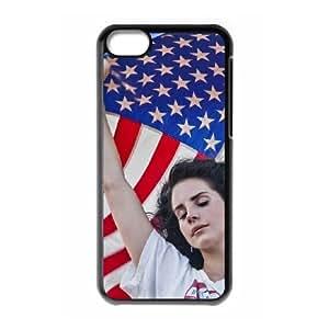 Customized Hard Back Phone Case YU-TH47491 for Iphone 5C w/ Lana Del Rey by Yu-TiHu(R)