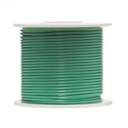 Green Wire Awg Stranded - Remington Industries 18PTFESTRGRE100 18 AWG Gauge Stranded Hook Up Wire, 100 feet Length, Green, 0.0403