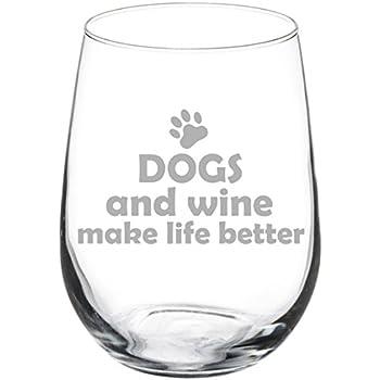 Greatest Amazon.com: 17 oz Stemless Wine Glass Funny Cats and Wine Make  ZJ65
