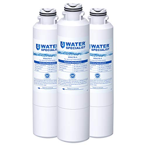 - Waterspecialist NSF 53&42 Certified DA29-00020B Refrigerator Water Filter, Replacement for Samsung HAF-CIN, HAF-CIN/EXP, DA29-00020A/B, DA97-08006A, DA2900020B, RF28HMEDBSR, RF4287HARS (Pack of 3)