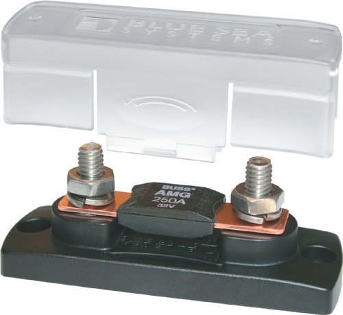 Blue Sea Systems 100-300A MEGA/AMG Fuse Block with Cover (Sea Fuse Block Blue Terminal)