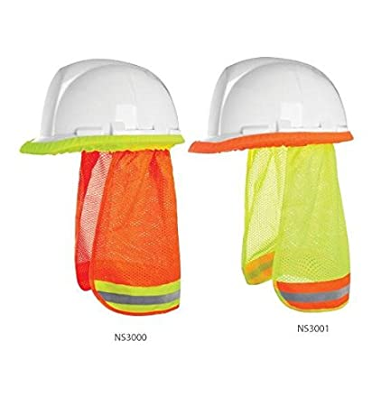 46ef64fd48a5e 3A SAFETY HARD HAT NECK SHADE - (FR) LIME - - - Amazon.com