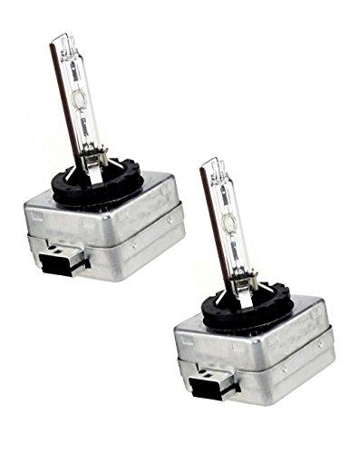 D1S Xenon HID Headlights Bulb - 4300K 6000K 8000K - Pack of 2 - Sinoparcel (6000K) (Hid Bulbs D1s)