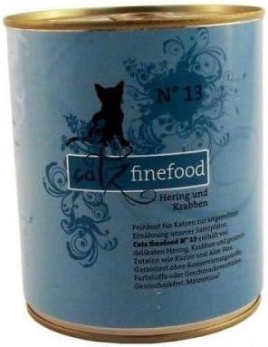 6 x Catz finefood No. 13 Hering & cangrejos 800 g lata, húmedo ...