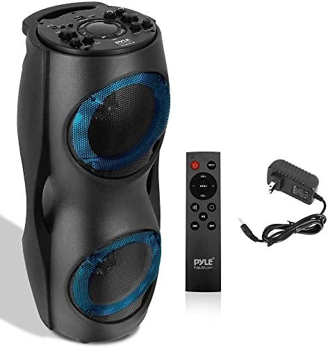 Moveable Bluetooth PA Speaker System – 800W Outside Bluetooth Speaker Moveable PA System w/TWS, Recorder, Microphone in, Celebration Lights, USB SD Card Reader, FM Radio, Carry Deal with – Pyle PPHP62LB