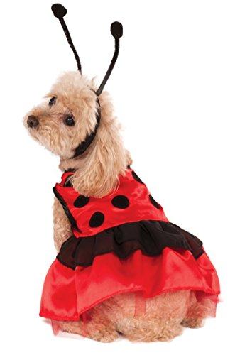 Extra Small Puppy Costumes (Rubie's Pet Costume, X-Small, Ladybug Dress)