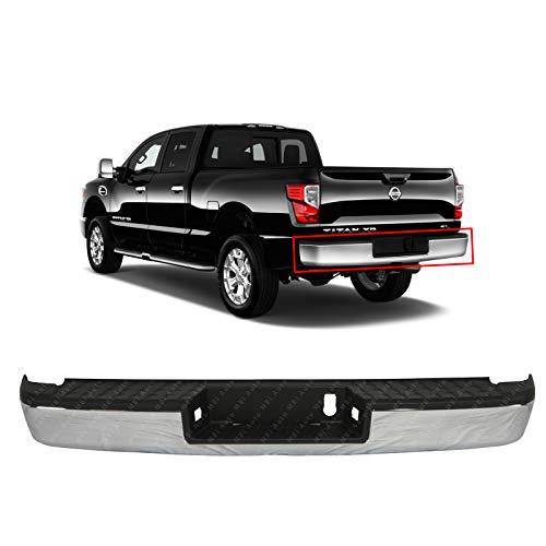 MBI AUTO - Chrome, Steel Rear Step Bumper Assembly for 2016-2019 Nissan Titan XD 16-19, NI1103133