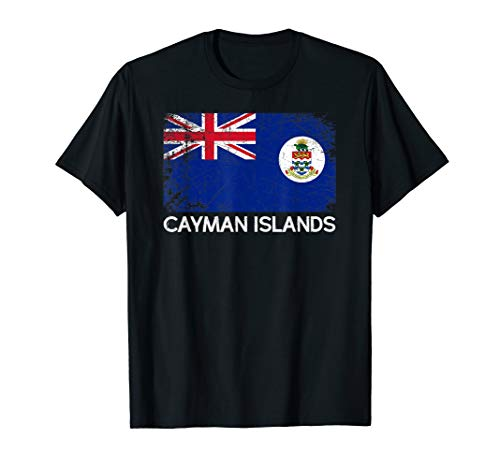 (Caymanian Flag T-Shirt | Vintage Made In Cayman Islands Gift)