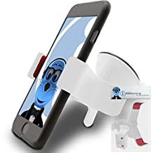 White Claw Multi-Directional Dashboard / Windscreen Case Compatible (Use with or without your existing case!) Clip On Suction Mount In Car Holder For Sony Xperia LT28I Ion LTE