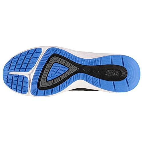NIKE Dual Fusion x Chaussures de Course pour Homme Noir/argenté/bleu Sport Baskets Sneakers