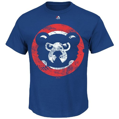 Chicago Cubs Cooperstown Rooted in Nostalgia Blue T-shirt (Majestic Oversized T-shirt)