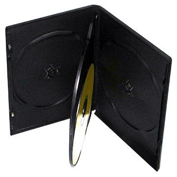 (mediaxpo Brand 10 Standard Black Quad 4 Disc DVD Cases)