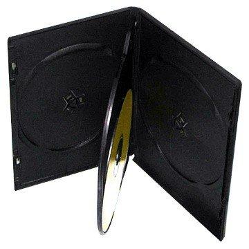 mediaxpo Brand 10 Standard Black Quad 4 Disc DVD Cases ()
