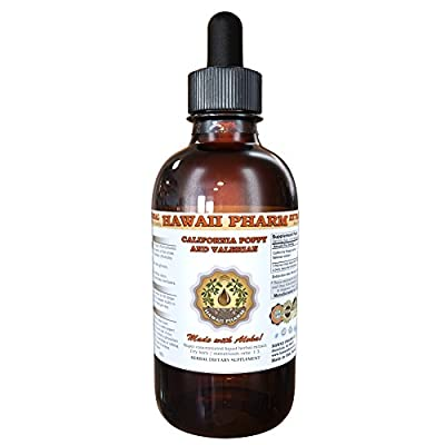 California Poppy and Valerian Liquid Extract, Organic California Poppy (Eschscholzia Californica) and Valerian (Valeriana Officinalis) Tincture Supplement