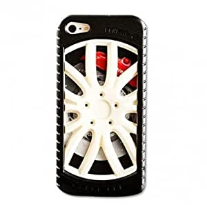 Fashion Stereo Sports Car Tire Silicon Back Case For iPhone 5 --- Color:Black+Green