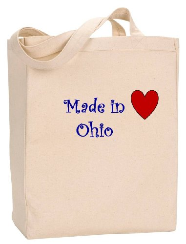 MADE IN OHIO - State Series - Natural Canvas Tote Bag with - Shopping In Akron Ohio