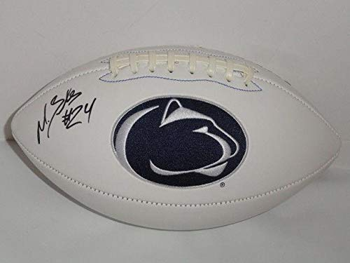 - Miles Sanders Signed Penn St. Nittany Lions Logo Football State Proof St - Autographed College Footballs