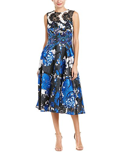 Teri Jon Womens by Rickie Freeman A-Line Dress, 2, Blue