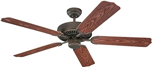 Monte Carlo 5WF52RB Traditional 52``Ceiling Fan from Weatherford Collection in Bronze/Dark Finish, Roman (Weatherford Outdoor Fan)