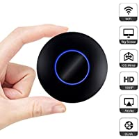 Elenxs WIFI Display Dongle, Wireless Screen Mirroring Adapter HDMI 1080P Full HD + AV Dual Output Display Receiver Support DLNA Airplay Miracast for Android/IOS/Projector/TV