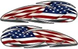 American Flag Custom Motorcycle Gas Tank Graphics