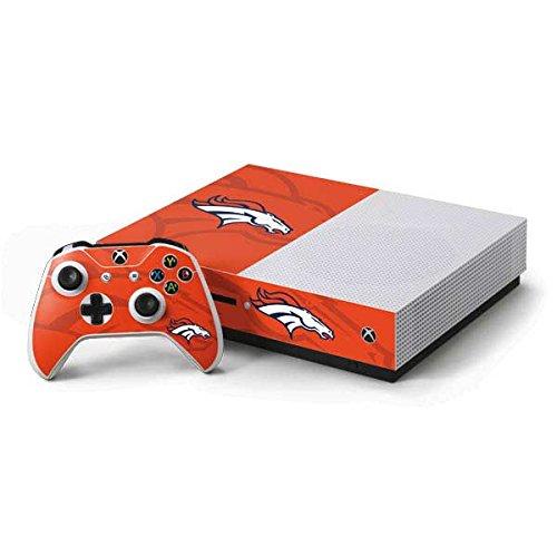 Price comparison product image NFL Denver Broncos Xbox One S Console and Controller Bundle Skin - Denver Broncos Double Vision Vinyl Decal Skin For Your Xbox One S Console and Controller Bundle