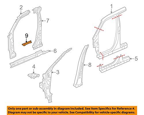 Genuine Honda 63229-SZA-A01 Right Center Pillar (Inside) Separator