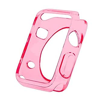 For Apple Watch 38mm - HD Silicone Clear Gel Case Cover Transparent Pink