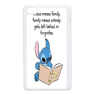 DIY Lilo and Stitch Ohana means family Hard Plastic phone Case Cove FOR IPod Touch 4 JWH9155879