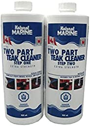 Two 900ml Two Part Teak Boat Cleaner