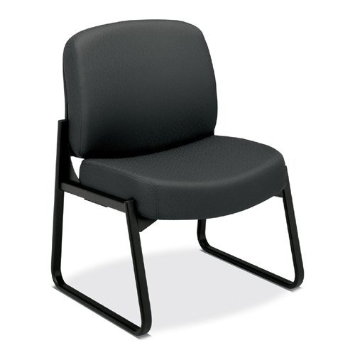 (HON Sled-Base Armless Guest Chair, 28-1/4 by 27 by 35-Inch, Charcoal Gray)
