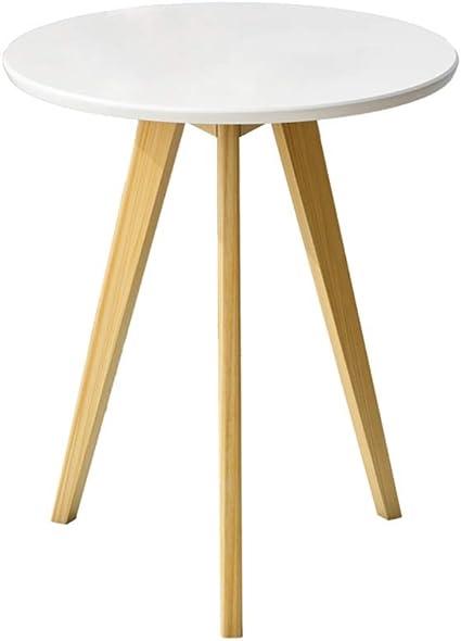 Zhanyi Tavolino Di Moda Tavolino Semplice Tavolo In Legno Massello Tavoli Rotondi Tavolino Moderno Tavolino Da Salotto For Soggiorno Ufficio Color White Amazon It Casa E Cucina