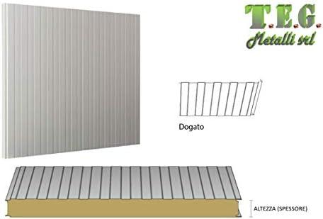 T.E.G. METALLI S.R.L. t.e.g. Metales s.r.l. Paneles Sandwich Aislado isopar Aislamiento Ancho 1 MT para Pared: Amazon.es: Hogar