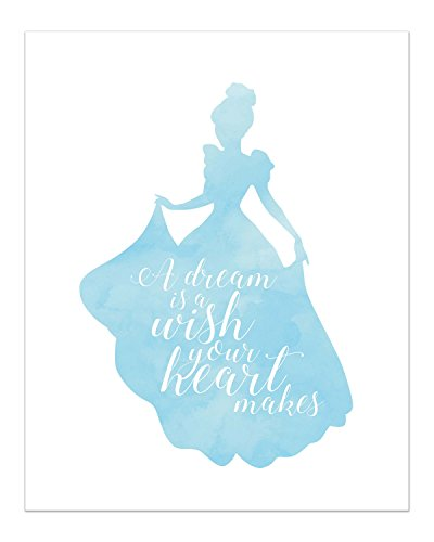 Summit Designs Cinderella Disney Princess Inspirational Quote - Photo Print (8x10) Poster -