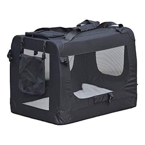 Alaskaprint Hundebox Faltbar, Hundetransportbox Faltbar Transportbox Auto Reisebox Katzenbox Hundetasche für große Hunde…