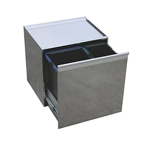 Recipiente lavenox Sy.t.28 archivador doble para reciclaje de integrado de extracción frontal 14 Lt.+ 10 Lt: Amazon.es: Hogar