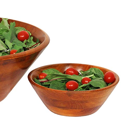 Woodard & Charles Wood Individual Salad Bowl, 7-Inch, - Walnut Salad Bowl Set
