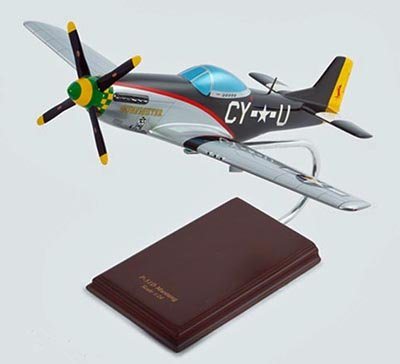 "North American P-51D Mustang ""Gunfighter"" Handcrafted Quality Desktop Aircraft Model Display / WWII USAAF Fighter-bomber Aircraft / Unique and Perfect Collectible Gift Idea / Aviation Historical Replica Gift Toy"