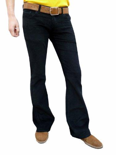 Homme Noir X Evasé Fuzzdandy Pantalon 32l 32w Bootcut qZEwg5