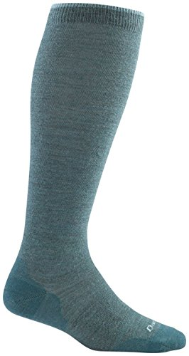 Darn Tough Women's Merino Wool Solid Knee High Light Socks Teal Small DISCONTINUED